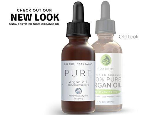 Foxbrim 100% Pure Organic Argan Oil for Hair, Skin & Nails, 2 fl. oz. by Foxbrim Naturals (Image #3)