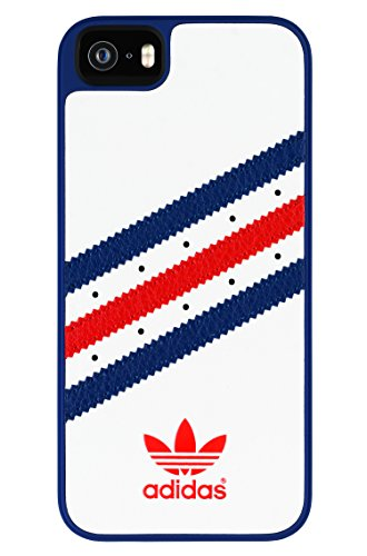 adidas Molded Cell Phone Case for Apple iPhone 5S/SE – Retail Packaging – White/Blue/Red