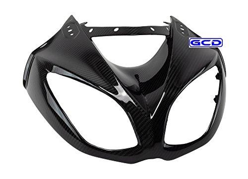 (2010) Kawasaki ZX10R Headlight Upper Front Nose Mask Fairing Cowling 100% Twill Carbon ()