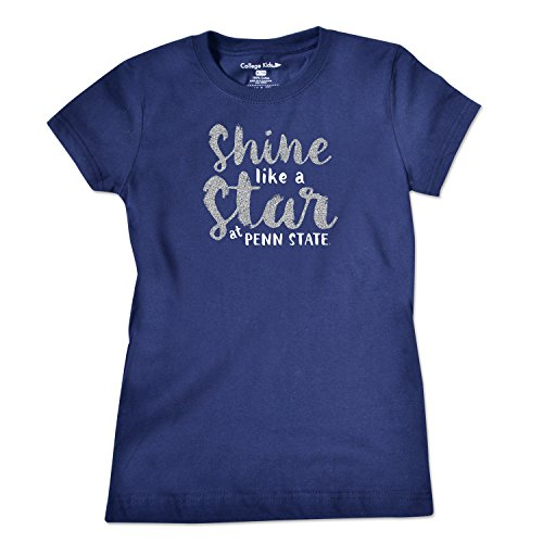 NCAA Penn State Nittany Lions Girls Short Sleeve Tee, Size 7/X-Small, Navy