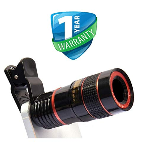 Lowfe Mobile Blur Background 8X Optical Zoom Mobile Telescope Lens kit for All Mobile Camera | Background Effect Macro Lens & Wide Angle Effect Lens for All Android/iOS Devices (B084DRMSF6) Amazon Price History, Amazon Price Tracker