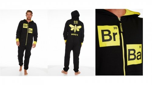 Breaking Bad 'Methylamine Bee' Black & Yellow Hooded 35% Cotton 65 Polyester Mens Large (Male Bee Costume Uk)
