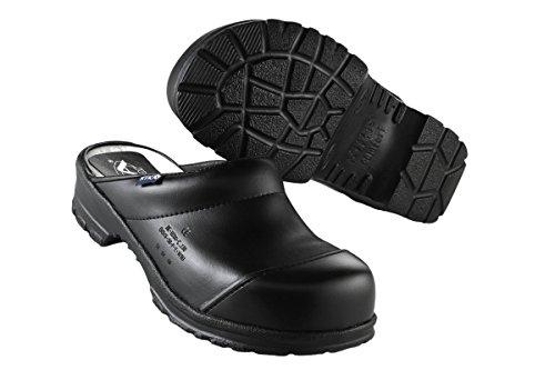 Teak Comfort Sabot aperto con legno-Fußbett e puntale in acciaio, Colore Nero, SB + SRC