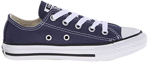 Converse Kinder Chuck Taylor All Star Low Top Schuh, Marine, 2 M US Little Kid