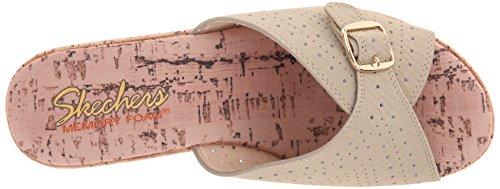 Skechers Cali Women's Bohemias Wedge Sandal, Taupe, 7 M US