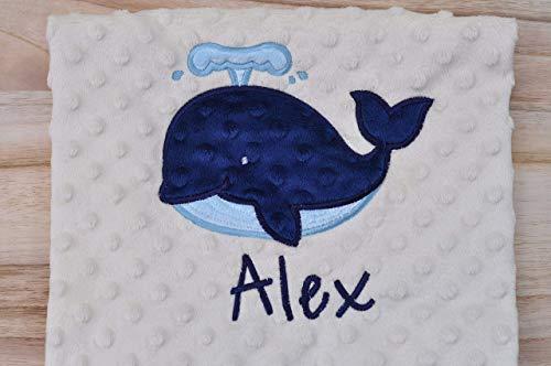 Minky Baby Blanket Whale Baby Blanket Personalized Whale Tribe Minky Blanket Personalized Baby Blanket