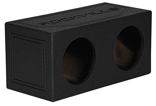 Rockville RD10B Dual 10″ 1.0 cu.ft. Bedlined Sealed Subwoofer Enclosure Sub Box