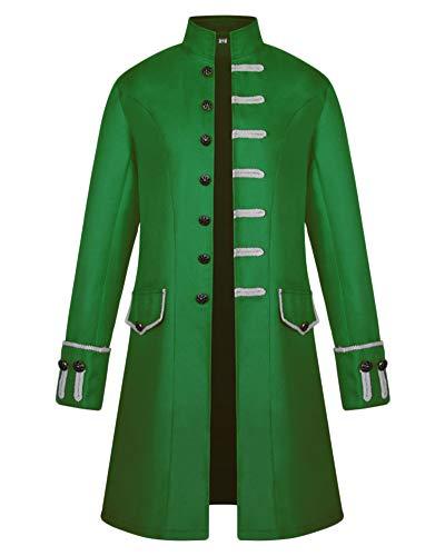 Gladiolusa Jacket Cosplay Uniforme Vert Tuxedo Steampunk Homme Coat Vintage Veste Rétro Costume Manteau 1wrqU1