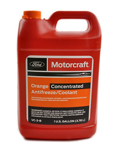 Concentrated Antifreeze - Genuine Ford Fluid VC-3-B Orange Concentrated Antifreeze/Coolant - 1 Gallon