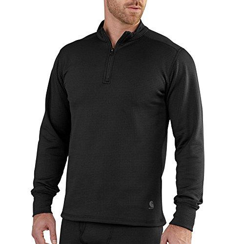 Carhartt Men's Base Force Extremes Super-cold Weather Quarter-zip Sweatshirt, Black, Medium ()