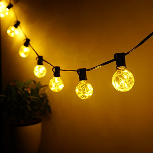 G40 Globe String Lights, 25 LED Fairy Light Bulbs Starry Ball Warm White LED String Lights by Yitee, For Patio Garden,Party,Wedding,Christmas Indoor/Outdoor Decoration