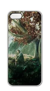 NBcase Under The Tree Thinking hard PC iphone 5 case for teen girls clear case