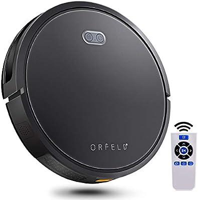 Robot aspirador Orfeld, 120 minutos de funcionamiento, batería de ...
