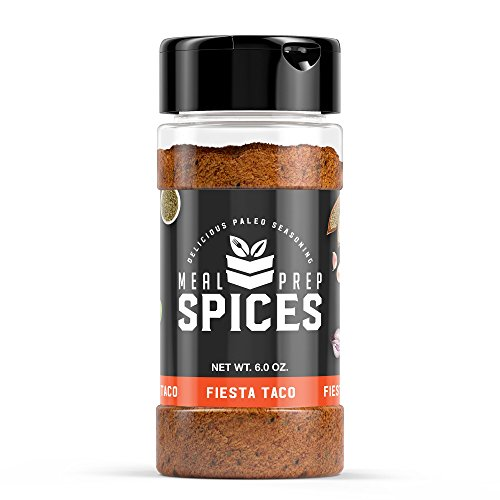 Meal Prep Spices Fiesta Taco Seasoning - Paleo, Kosher, and Gluten Free - One (1) 6oz Bottle (Korean Beef Recipe Ground Beef)