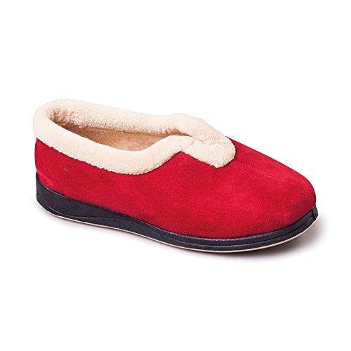 Talón Con Rojo Extra 30mm Libre Anchura Zapatillas Velcro Grande Padders Zapato 'carmen' Suelas Y Zapatos De Ee Los Cuerno Forma Mujeres Memoria waq1AXxO