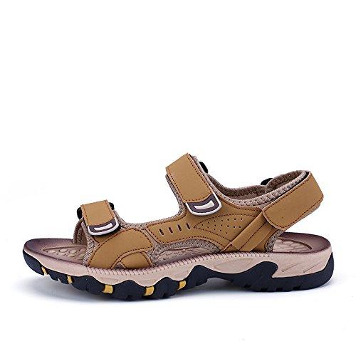 Xing Lin Sandalias De Cuero La Nueva Juventud Sandalias De Verano Playa Marea Zapatos De Hombre Verano Grandes Chicas Hombre De Deportes Y Ocio ,37, Oro