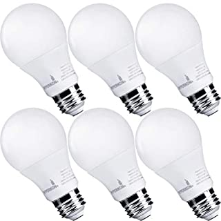 Hyperikon A19 Dimmable LED Light Bulb, 9W=60W, E26 Base, CRI90+, Energy Star, UL, Daylight White, 6 Pack