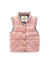 UWESPR Baby Girls Winter Cute Warm Vest Coat Light Weight Cotton Waistcoat