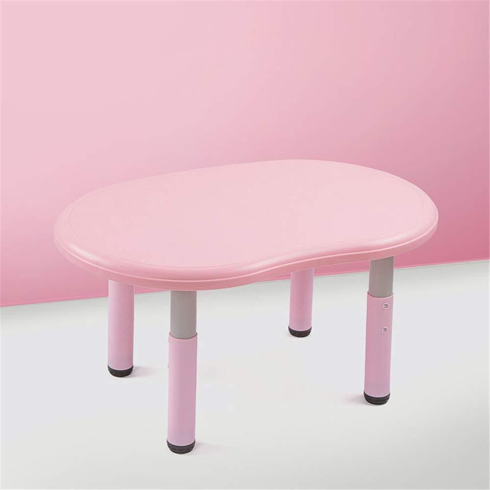子供用テーブルと椅子 子供のミニマリスト研究テーブルチェアテーブルセットチルトテーブルと子供のためのアートウッドテーブルコレクションワークステーション高さ調節可能 多機能子供用ハイチェア (色 : ピンク)  ピンク B07TH8F46R