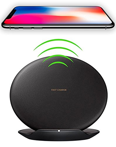 Price comparison product image Samsuns S8+ Wireless Quick Charger Fast Charge 10W for iPhone X,  iPhone 8,  iPhone 8 Plus, Samsung Note 8,  S6 Edge +,  S7,  S7 Edge,  S8 and S8 Plus,  etc. by Ixir