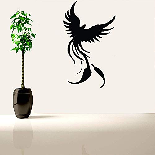 Teadyi Removable Vinyl Mural Decal Quotes Art Phoenix Rising Mythical Living Room Bedroom