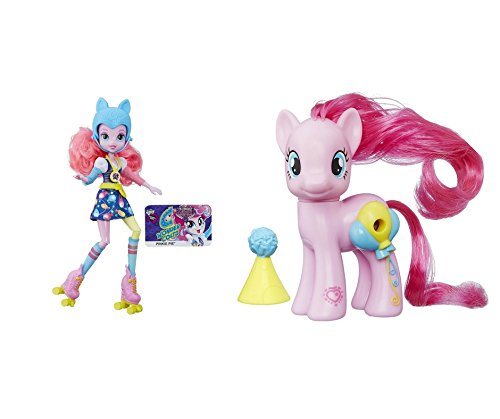 My Little Pony Toys Bundle Set My Little Piny Pinkie Pie and My Little Pony Equestria Girls Pinkie Pie Sporty Style Roller Skater Doll