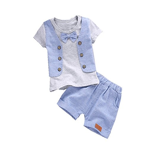 ftsucq-little-boys-bow-tie-short-sleeve-shirt-top-with-shorts-two-pieces-setsgray-90