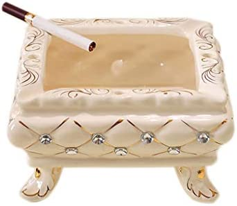 灰皿 , ヨーロッパのクリエイティブ家庭大陶器灰皿多機能居間灰皿 (色 : C)