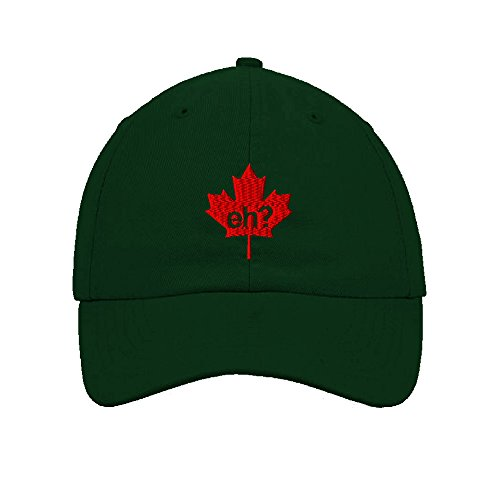 Speedy Pros Cotton Low Profile Hat Canada Eh Maple Leaf Embroidery Design By Forest (Maple Leaf Eyelet)