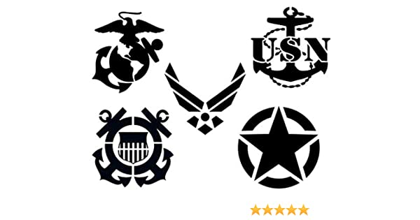 Assorted Size Include American Flag//50 Stars//Map////Marine Corps//Army//Air Force//Navy//1776 //I Love USA//Statue of Liberty for Painting on Wood//Fabric//Paper//Airbrush, 12Pcs Patriotic Reusable Stencil