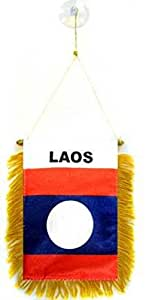 Bandera de Laos coche ventana para colgar banderín