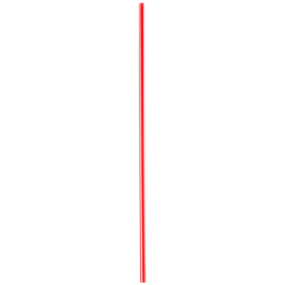 BWS 7 1/2'' Red and White Unwrapped Coffee Stirrer, Case of 10000