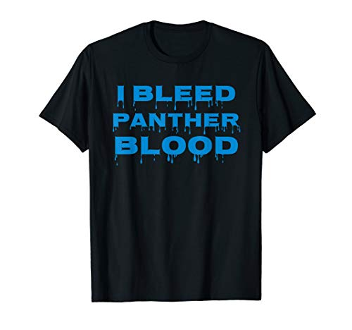 I BLEED PANTHER BLOOD Cool Blue T Shirt
