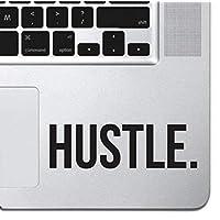 "Hustle Sticker Decal MacBook Pro Air 13"" 15"" 17"" Keyboard Keypad Mousepad Trackpad Laptop Retro Vintage Motivational Text Quote Laptop Sticker iPad Sticker Inspirational Sticker Hustler"