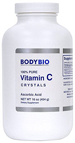 BodyBio - Vitamin C Crystals, Ascorbic Acid, 454g, 16oz