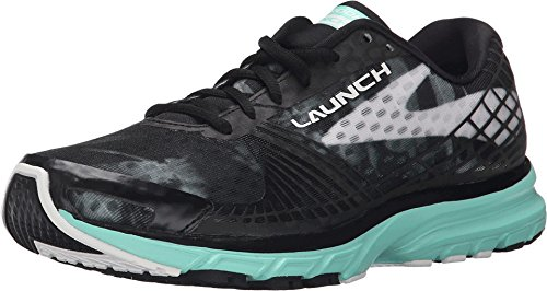 Brooks Women's Launch 3 Black/White/Ice Green Sneaker 8.5 B (M)