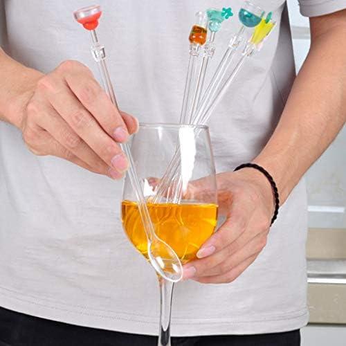 9 Zoll Lange Griff Löffel Form Rühren Sticks Für Cocktail Swizzle Sticks Mixer, Home Bar Partei Verwenden