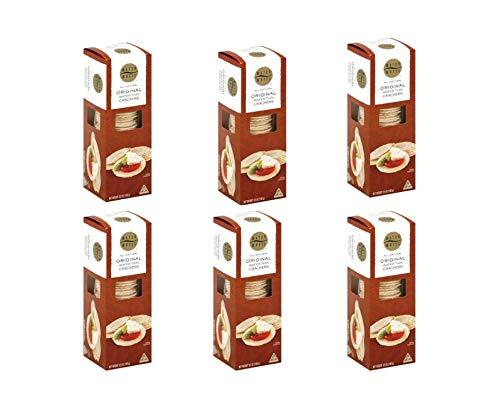Waterwheels, Original Wafer Thin Crackers, 3.5 Ounce (Pack of 6) by Waterwheels Premium Foods