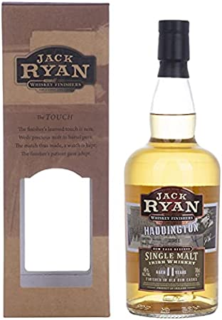Jack Ryan Haddington 11 Years Old Single Malt Irish Whiskey Rum Cask Reserve 46% Vol. 0.7L In Giftbox - 700 ml