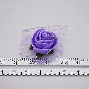 50Pcs/Lot 2Cm Diameter Mini PE Foam Rose Head Multicolor Artificial Silk Flowers Bouquet for Wedding Party Home Decoration Lake Blue 4