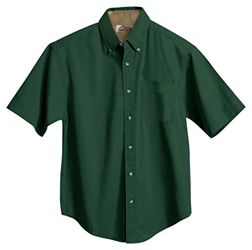 - Tri-Mountain Men's 5.5 oz 100% Cotton Woven Shirt - 788 Forest Green