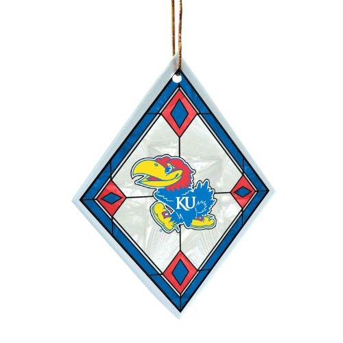 NCAA Kansas Jayhawks Art Glass Ornament