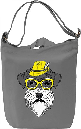 Hipster dog Borsa Giornaliera Canvas Canvas Day Bag| 100% Premium Cotton Canvas| DTG Printing|