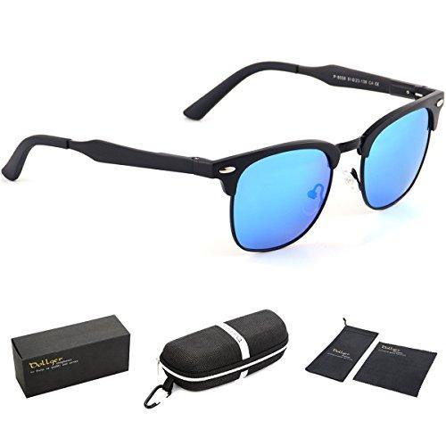 Dollger Classic Polarized Clubmaster Sunglasses Horn Rimmed Half Frame …