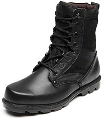 軍事戦術ブーツのCortexは暖かいハイヘルプレースアップスタイルアサルトブーツ軽量滑り止め耐摩耗ラバーソールをキープ (色 : 黒, サイズ : 26 CM)