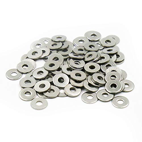 - LICTOP 100 Pcs M4 Stainless Steel Round Flat Washer for Bolt Screw,12mm/0.47'' Outside Diameter