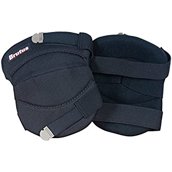 Brutus 79637BR Contour Washable Knee Pads for Hard and Soft Surfaces with Strap