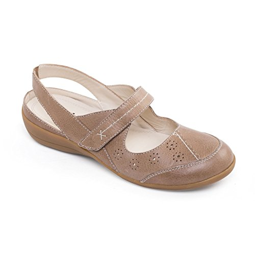 Padders Women's Leather Shoe 'Donna 2' | Extra Wide EE Fit | Free Footcare UK Shoe Horn Biscuit aCHFCd9ain