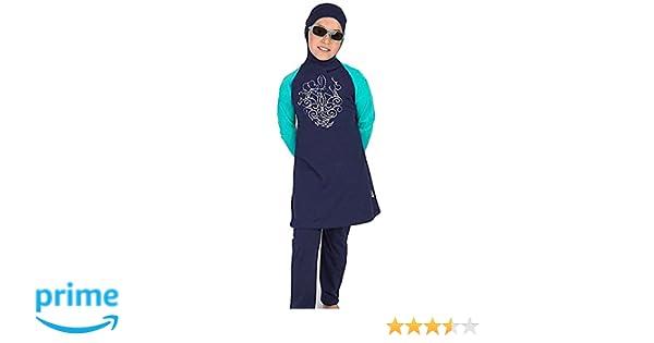 c843224a2cd38 Amazon.com  Muslim Swimwear YEESAM for Girls Kids Burkini Modest Hijab  Swimsuits UPF 50+  Clothing