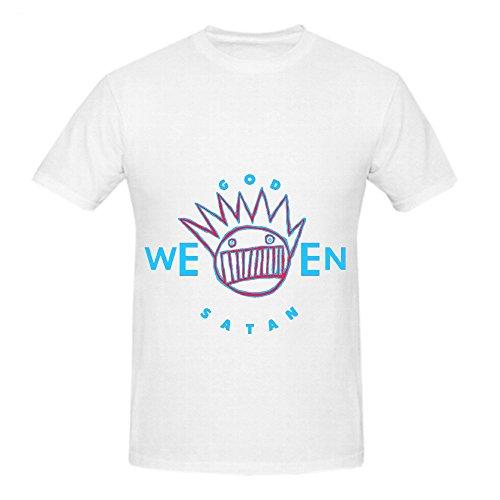 Ween Godweensatan The Oneness Electronica Men Round Neck Design T Shirt White